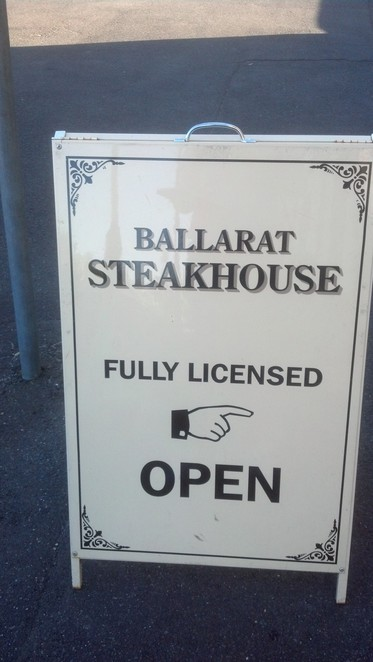 Ballarat Steakhouse Sign