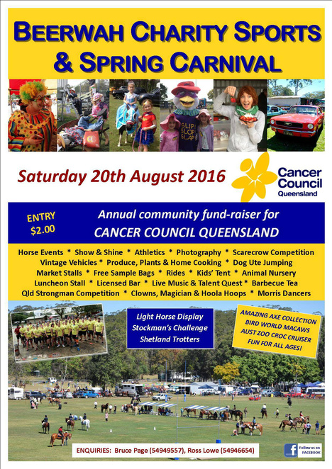 Beerwah Charity Sports & Spring Carnival, Beerwah, Family Fun, Fun things to do, stalls, Market, Horses, kids