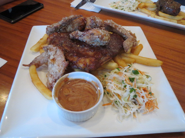 Cafe Cali, Bourbon Basted Pork Ribs and Crispy Chicken Wings, Adelaide