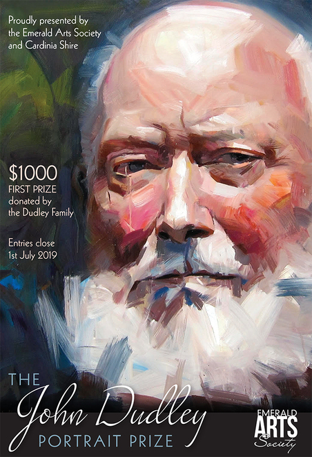 emerald arts, art society, the dudley family, the john dudley portrait prize 2019, community event, art competition exhibition, artists, paintings, portrait competition, multi media, eas hall, original art work, original portraits, arts society, hills hub, emerald library, cardinia cultural centre, community event, fun things to do, creative pursuit