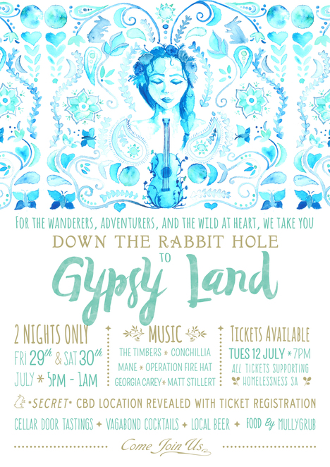 gypsy land, down the rabbit hole, pop up cellar door party, wine party adelaide, adelaide wine, cellar doors adelaide, things to do in adelaide, winter events