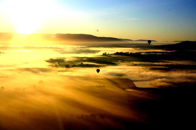 Hot Air Balloon, Air Travel, Global Ballooning, Yarra Valley, Wineries, Melbourne