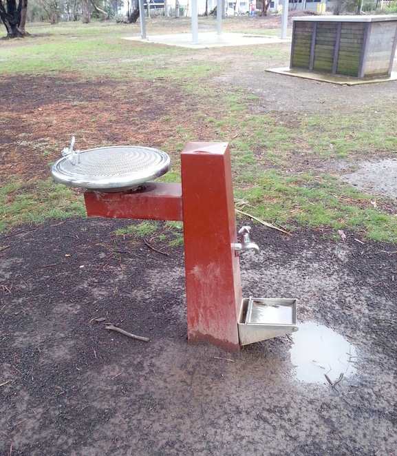 Kingston park, water tap for dogs