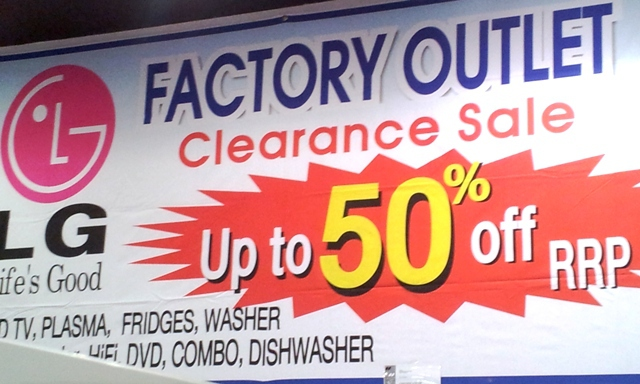 68754d04 LG Factory Seconds Clearance Sale Centre - Melbourne
