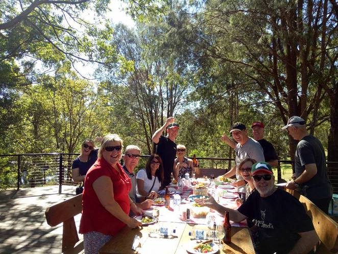 Lunch, family, outdoors, barbecue, fun, winery