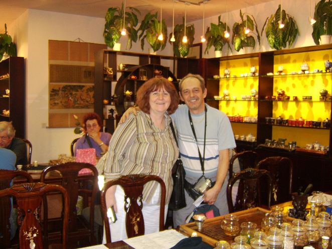 Margaret and Colin Waters in the Teahouse Shanghai