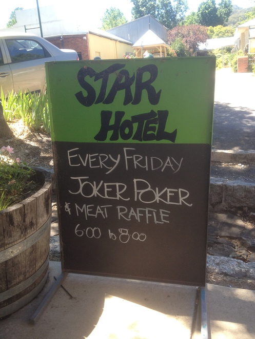 Friday Night meat raffle, Star Hotel