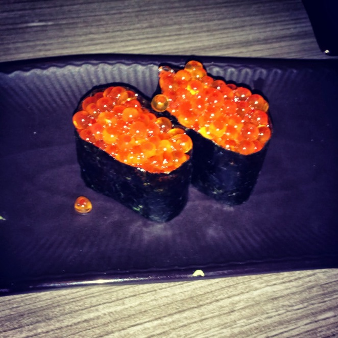 Salmon Roe Sushi, a necessity for any Eastern European guest of Mizuya to have