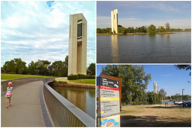 national carillon, canberra, ACT, lake burley griffin, kings park,