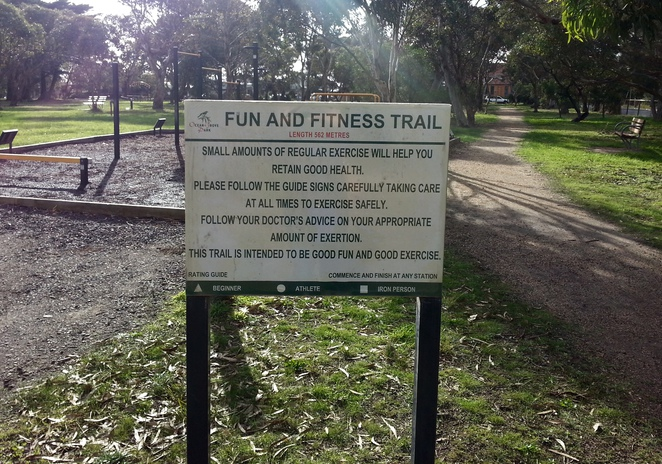Ocean Grove Park Fun and Fitness Trail, Park Fitness Equipment