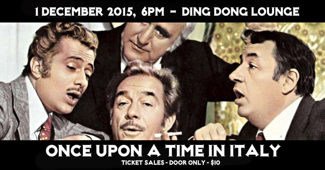 once upon a time in italy, ding dong lounge, groove conspirace, alessandro stellano bass, zac lister guitar, nanni calandro drums, italian sound tracks, musicians, mitch ward, my friends, movies, big deal on madonna street, be sick, nomit, the italian network of melbourne, italian culture, italian migrants