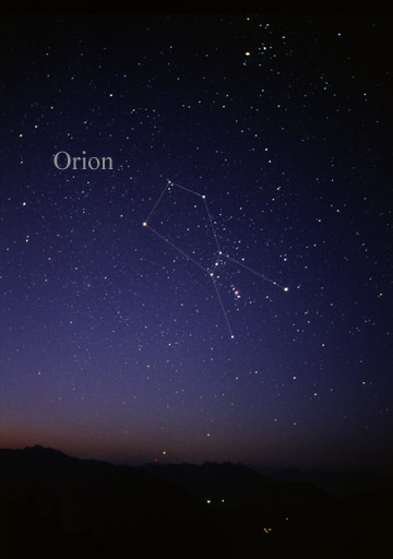 Image of the of constellation Orion courtesy of Till Credner at Wikimedia