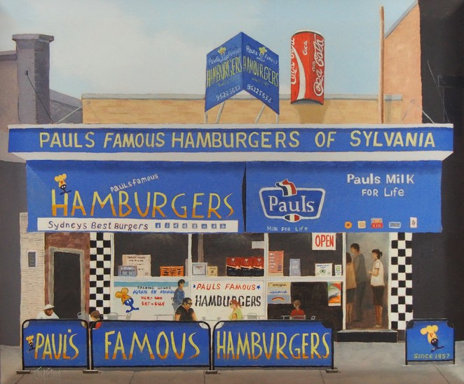 Paul's famous hamburgers by Jim Flood. Image courtesy of Jim Flood.