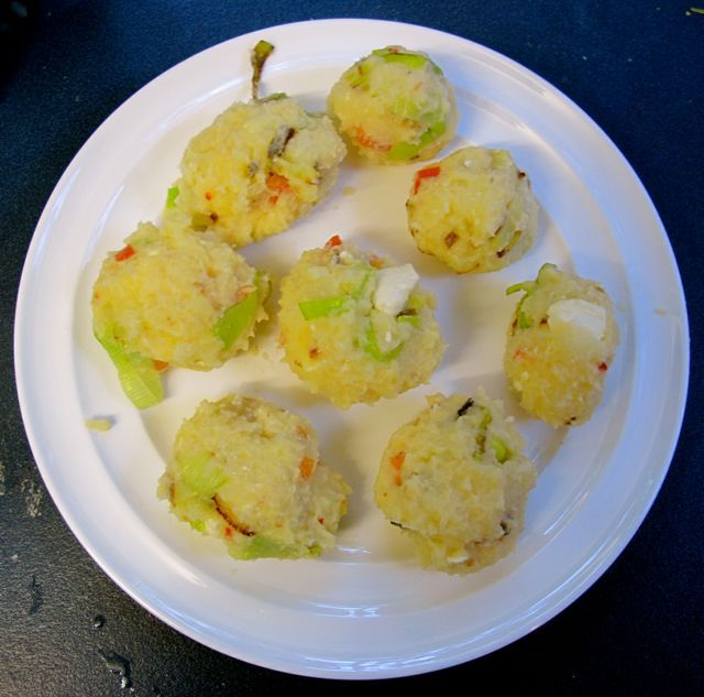 Mashed Potato Cakes With Scallions And Parmesan Cheese Recipe ...
