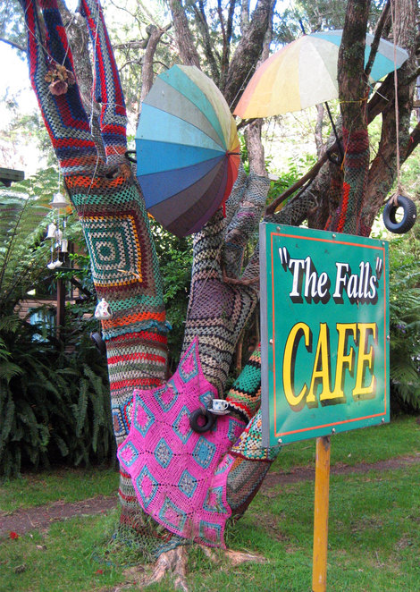 The Falls Cafe is across the road from the Queen Mary Falls