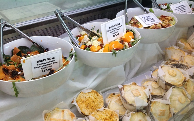 salads & gourmet pies, The Roses Cafe