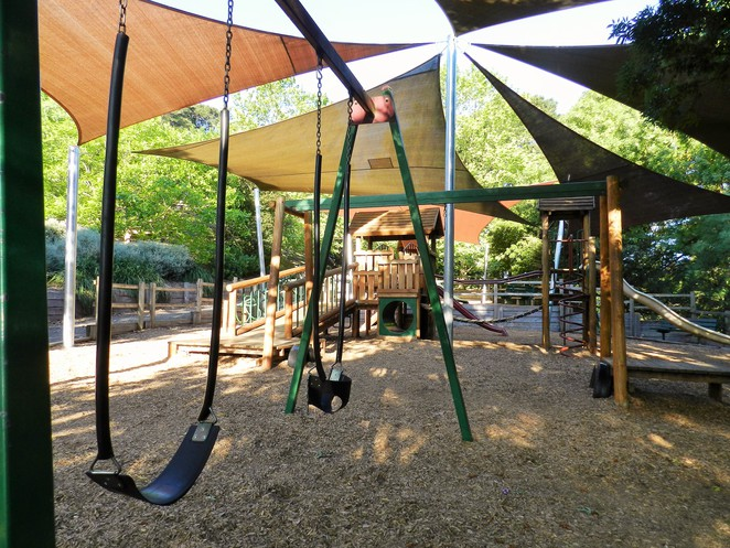 swings, track slide, flying fox, playgropund, play space, wilson botanic park, playgrounds in the city of casey, playgrounds in melbourne, playbround equipment,