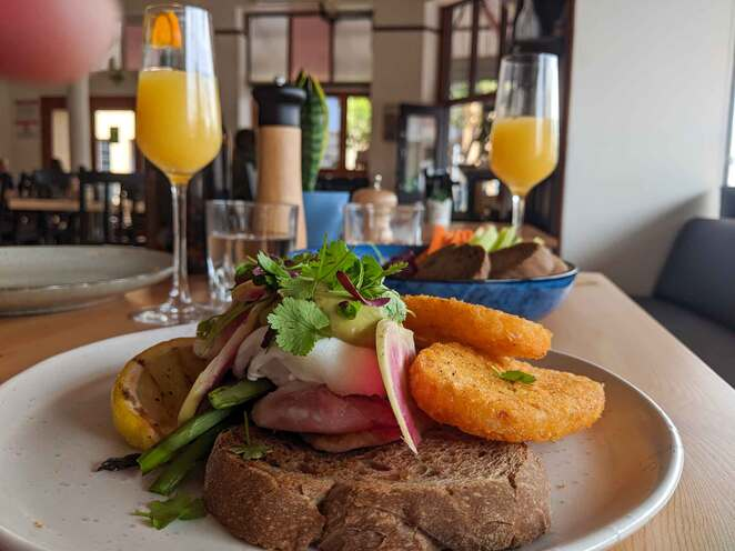 the banksia tree, eggs benedict, cafe, licenced, port adelaide, breakfast, brunch, food, wine, adelaide