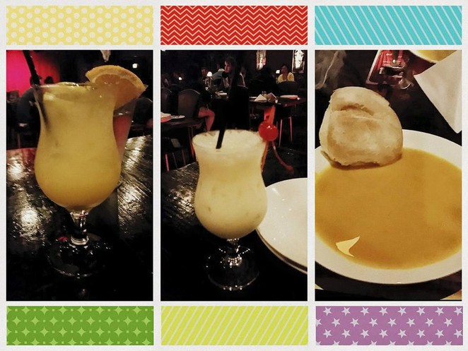 Left to right: Poison Punch, Beetle Juice and pumpkin soup (Joya)