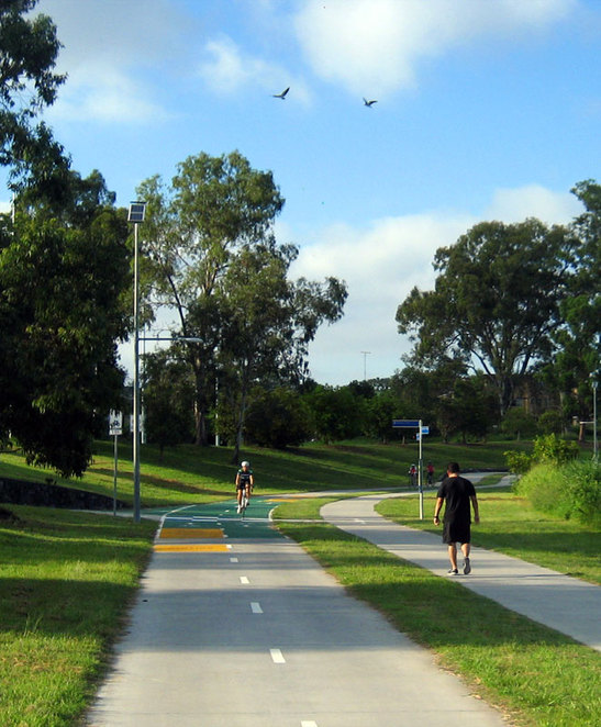 The Kedron Brook Cycleway at Lutwyche