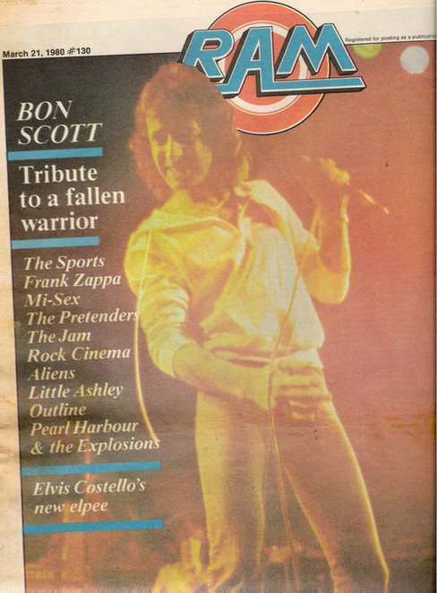 A rock fanzine from the past - RAM, feature on the Sports