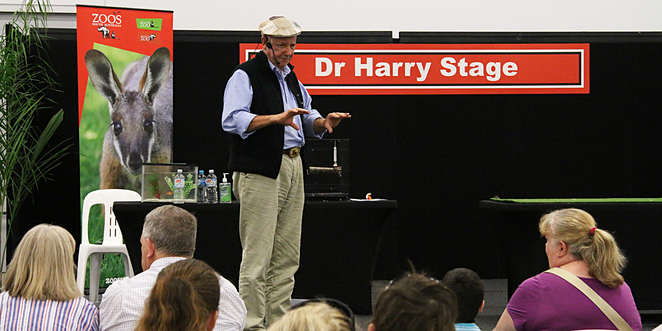 Adelaide Animal Expo, 2019,Dr Harry, on stage