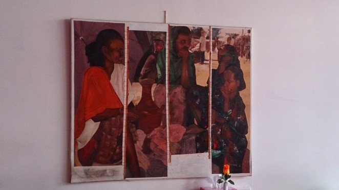 African modern art, African paintings, Decorated walls