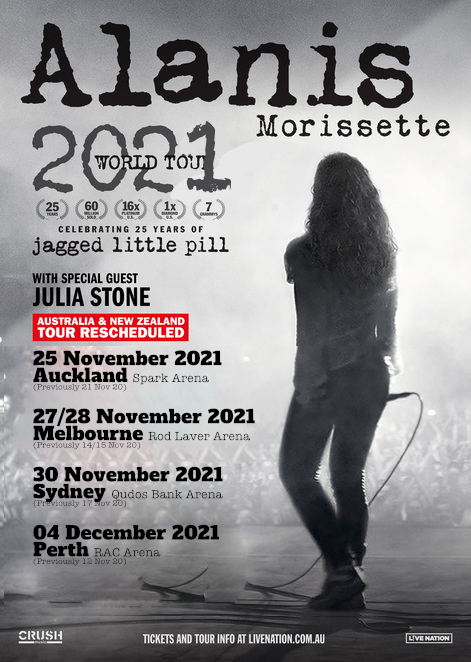 Alanis Morissette, Alanis, Jagged Little Pill, Jagged Little Pill the musical, Julia Stone, Alanis live in Sydney, Alanis Concert 2021, Alanis Morissette concert 2021 article by Jade Jackson