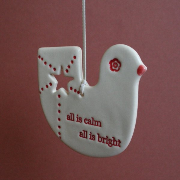 all is calm christmas decoration