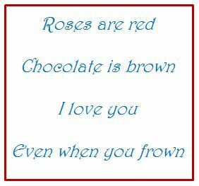 Bad poetry roses red love chocolate