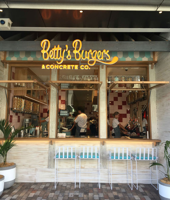 betty's burgers & concrete co, windsor, community event, fun things to do, restaurant, american burger bar, concrete desserts, classic burger shack, frozen custards, australian beef patties, creamy concretes, 50s retro shack fit out, fresh simple and quick food,