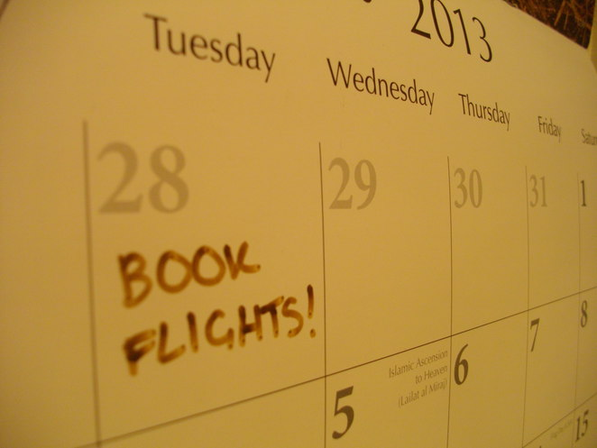 Calender, book flights, early, save on airfares