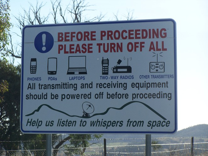 Canberra Deep Space Communications Complex sign