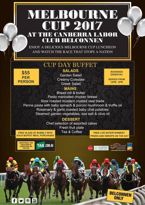 canberra labor club, canberra, melbourne cup 2017, ACT, canberra events, luncheons, events, sweeps, prizes, clubs,