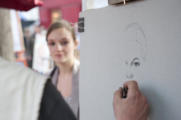 Caricature Workshop at queen victoria market