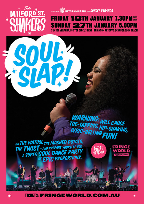 Concert, dance, soul music, Milford Street Shakers, Soul Slap, Fringe World, Scarborough