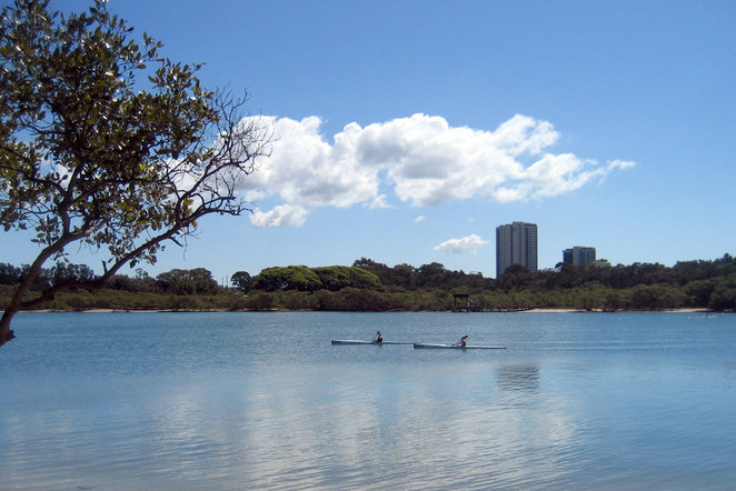 Kayakers on the Gold Coast