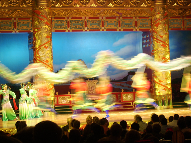 Dancers at Chinese opera