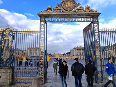 Outer Gates of the Palace of Versailles (c) JP Mundy 2012