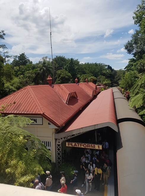 kuranda station, kuranda train station, kuranda railway station, kuranda, train station, railway station