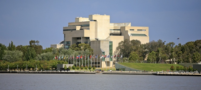 Image of the High Court of Australia courtesy of A constant police presence in our lives is designed to make us safety (Image courtesy of Alex Proimos @ Wikimedia