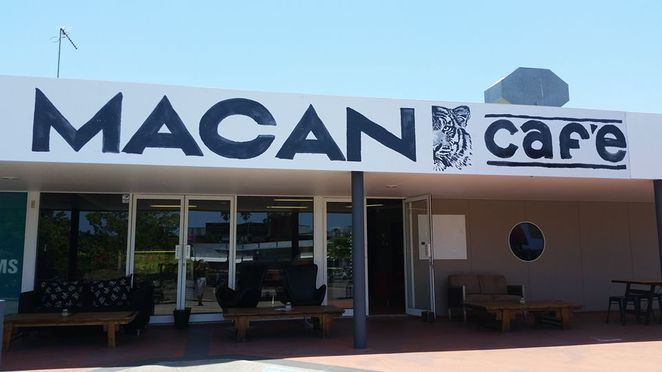 Macan Cafe, Norval Court, Maroochydore, Kai Coffee, sponsor children in need, Espresso XO Mobile Cafe, PJ Morrison, support Sumatran Tiger, Sumatran coffee blend, save the tiger, indoor and outdoor seating, comfy furnishings, sweet and savoury delicacies, weekly and daily specials, loyalty card