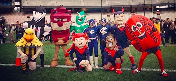 MCG, Open Day, 2019, Footy, Football, Cricket, Free, School Holidays, Fun, Kids, What to Do, sport, Family, Mascots, AFL, characters, Mascots Race,