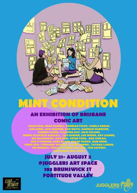 Mint, condition, comic, art, Brisbane, jugglers, free, convention, will, kelly