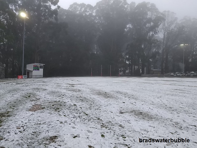 Olinda Football Ground Snow 2019