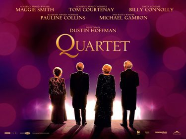 quartet, film, review, maggie smith