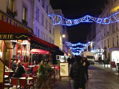 Rue Cler, Paris, at Christmas (c) JP Mundy 2012