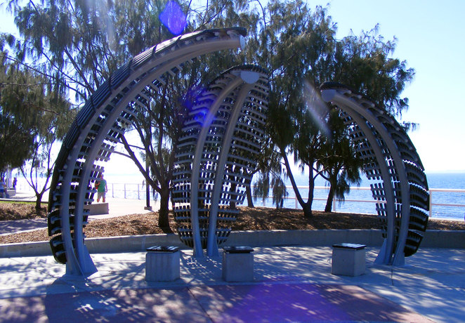 The are numerous artworks along the path between Shorncliffe and Sandgate