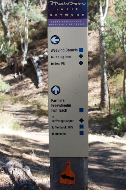 sign, Mt remarkable trails, mountain bike, mtb, cycling