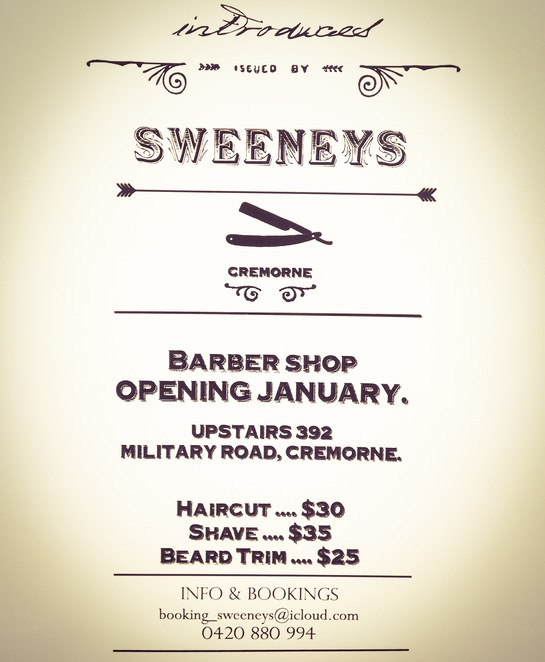 sweeneys barber shop cremorne